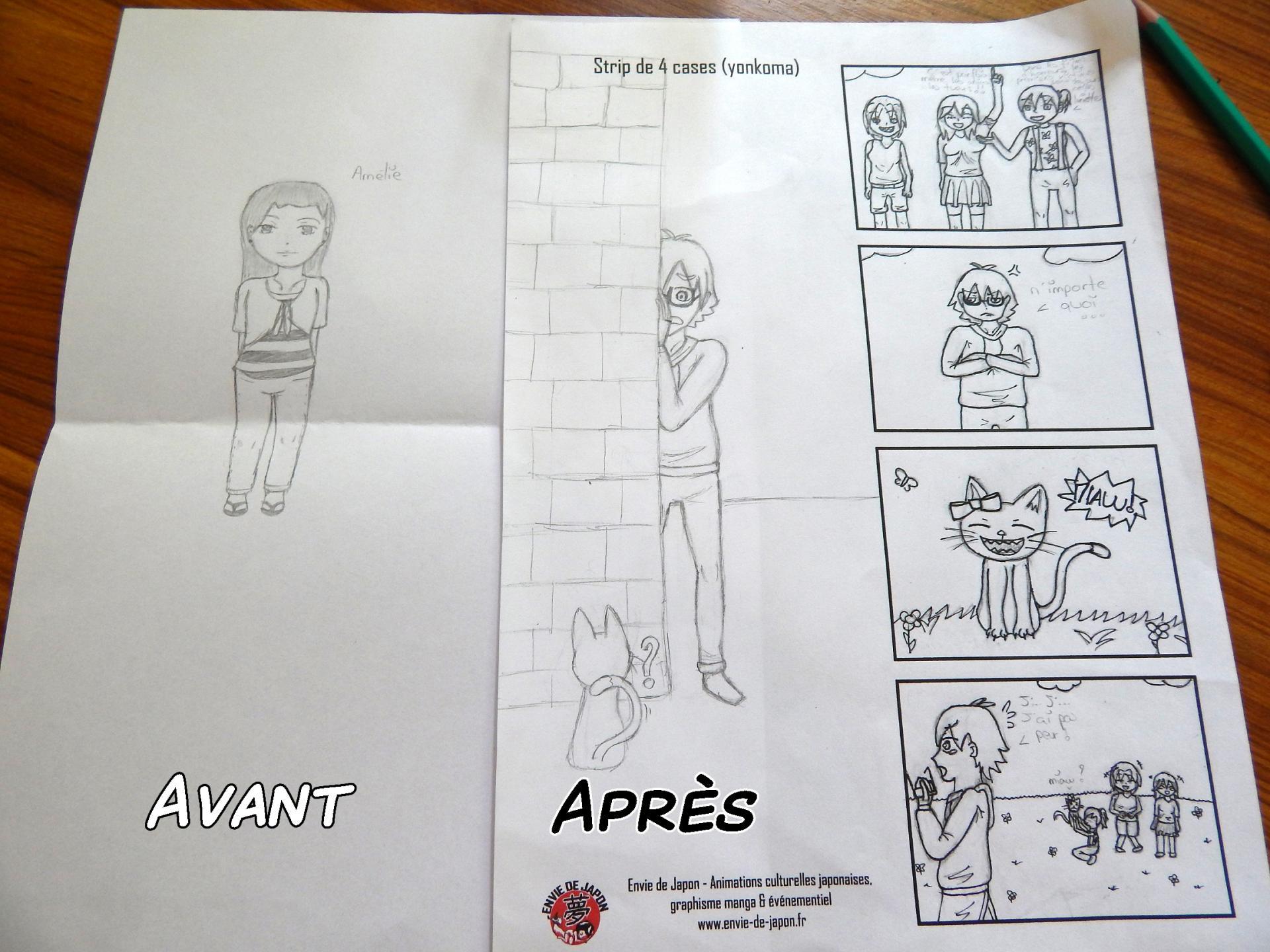 comparaison avant-après un stage manga