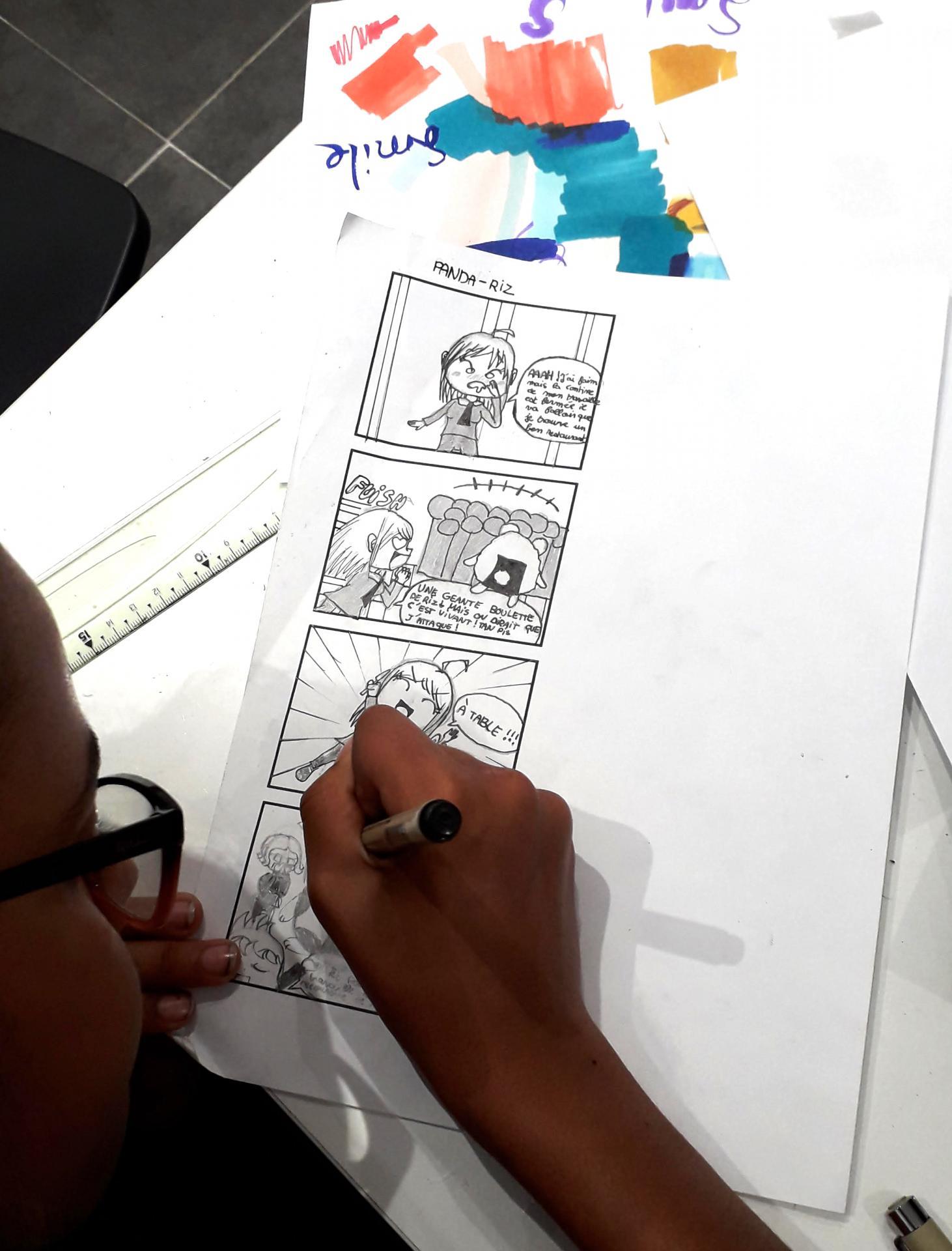 dessin yonkoma stage manga chibi