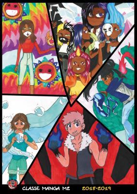 affiche élèves dessin manga 2018-2019