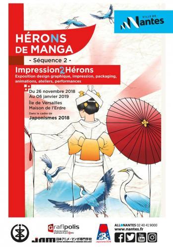 Hérons de manga séquence 2
