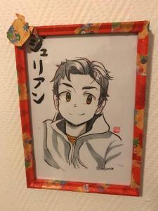 Portrait manga encadre