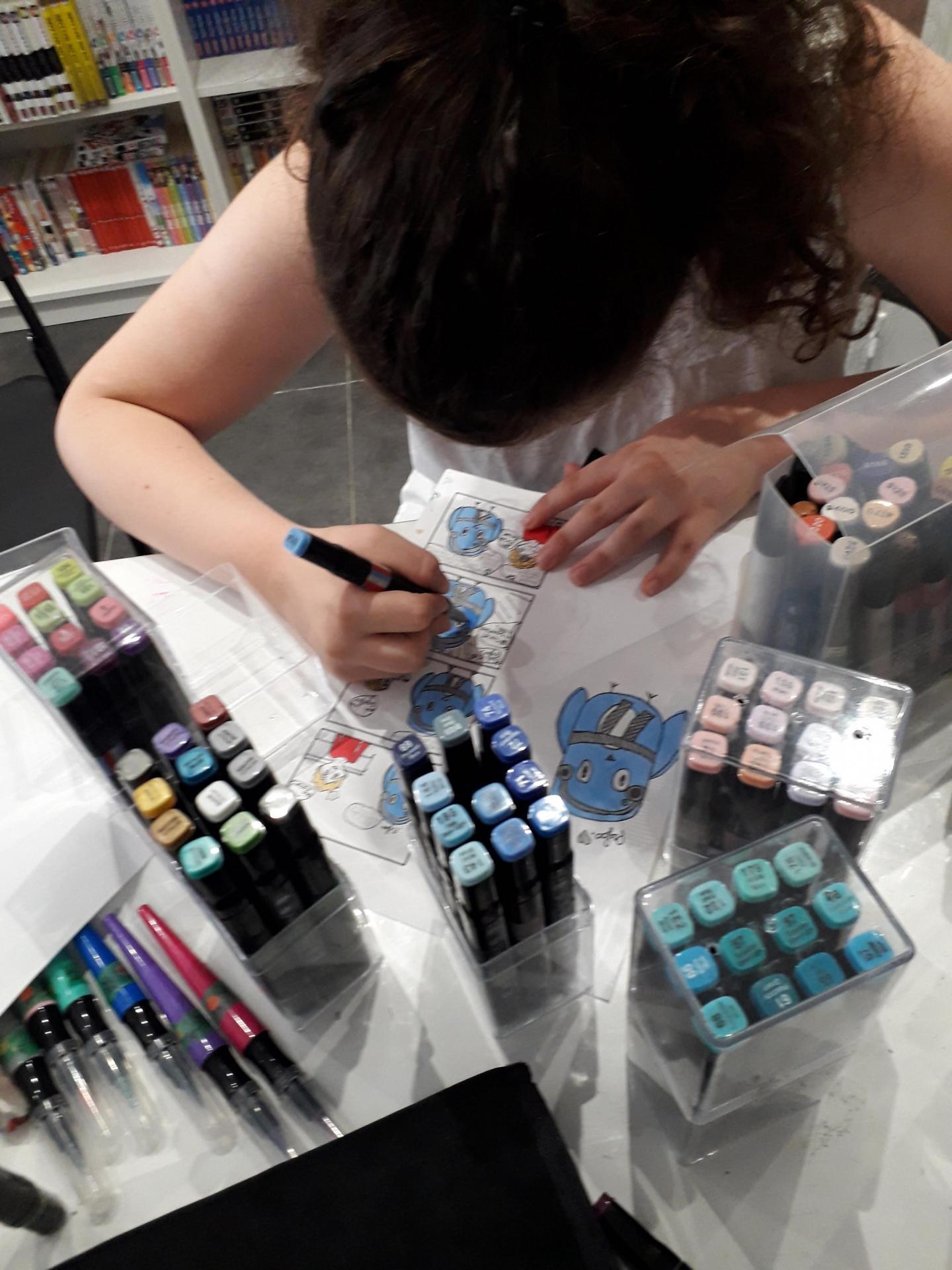 stage manga chibi et mascottes - mise en couleurs